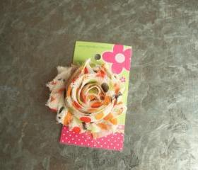 Shabby Flower Hair Clip over 50 colors to choose from