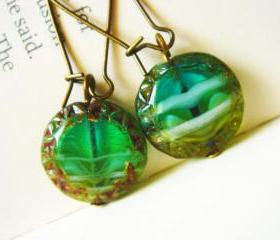 Nostalgic Glass Earrings