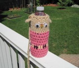 Crochet Owl Water Bottle Cozy - COMBC1