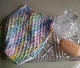 Hard Wearing Wash Cloth or Dish Cloth - 100% cotton - knitted in Scotland