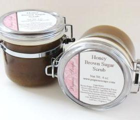 Honey Brown Sugar Body Scrub 4 oz Jar