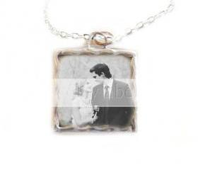 Photo Necklace Charm Customize Pendant Personalized Glass Custom Made Wedding Keepsake bridesmaids memorial Pet Birthday