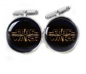 Black Star Wars Cufflinks Personalized keepsake gift for him guys men father cuff links accessory