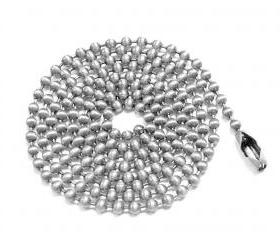 Ball Chain 18 inches jewelry supply findings 2.4mm connector Choice of Aluminum Brass Copper