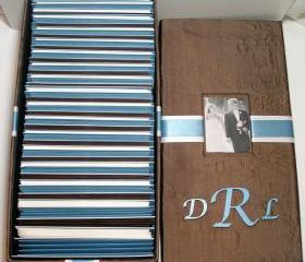 Wedding Guest Card Box w/Photo Inset & Monogram - (custom colors available)
