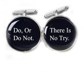 Do or Do not Cufflinks Do, Or Do Not. There Is No Try Star War Personalized gift guy cuff links
