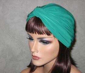 Made to Order Handmade Twist Fashion Turban -Money Green Roma