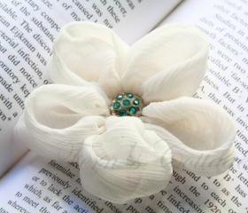 Fabric Flower Hair Clip and Brooch Pin