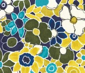 Colorful Floral Fabric - Garden Wall by Laura Gunn from Michael Miller 1 Yard