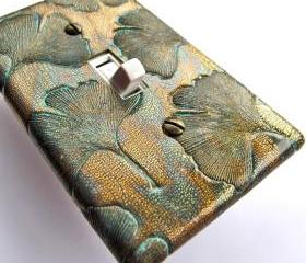 Bronze Ginkgo Light Switch Plate