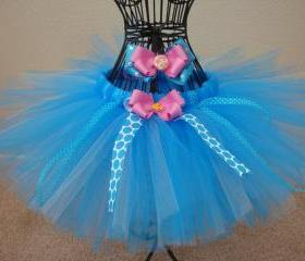 Mermaid inspired tutu and bow