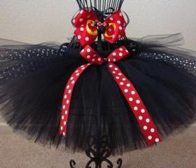Classic colored mouse inspired tutu and bow