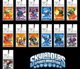 Skylanders Set of 12 VIP Party Invitation Passes or Party Favors