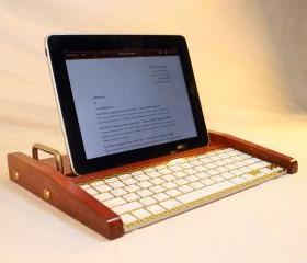 iPad Workstation - Keyboard - Tablet Dock - Cherry - iPad, IPhone, Tablet Bluetooth Keyboard Computer Desktop Workstation