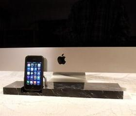 iPhone - iPod Dock -Charger and Sync Station - Marble Finish - Brass style V2 ( iMac Base- Apple Studio Monitor ) IPhone Dock