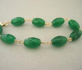 Spring Green Quartz Bracelet, Gemstone Jewelry