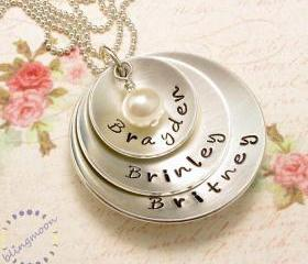 Pendant necklace sterling silver necklace with name necklace for mothers necklace pearl necklace charm necklace pendant with name jewellery