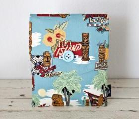iPad Case - Tiki Island Blue Palm Tree - Padded with Pocket