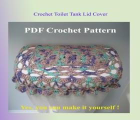 Crochet Pattern - Toilet Tank Lid Cover (5VC2012)