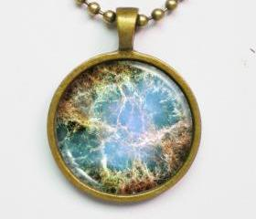 Constellation Necklace - Crab Nebula Image Necklace - Galaxy Series