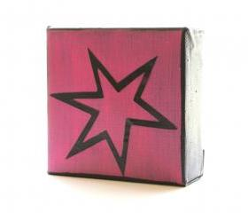 Pow-Comic-Art Block- Hot Pink-Free Shipping