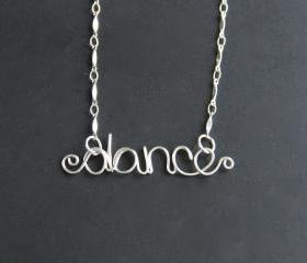 Dance Necklace Wire Word