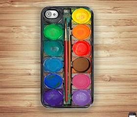 Watercolor Paint Box iPhone Hard Case, Fits iPhone 4 and iPhone 4S
