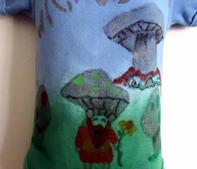 Wicked Mushroom Onesie OOAK Toddler