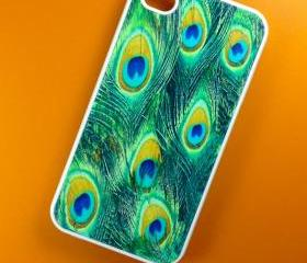 Iphone 4 Case - Peacock Feathers Iphone 4s Case, Iphone Case, Iphone 4 Cover