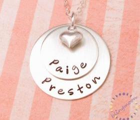 Gift for moms: Personalized sterling silver necklace for mothers