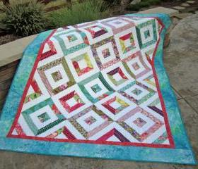 Handmade Quilt Fun Colors