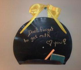 Recycled Record Black Board