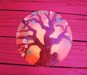 Orange Tree Recycled Vinyl Record Wall Hang