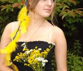 Yellow Feather Headband