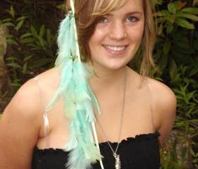 Light Blue Feathered Headband