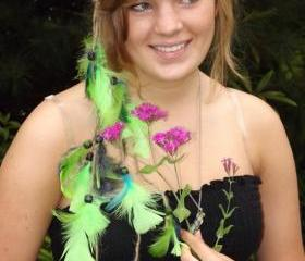 Custom Made Feather Headband