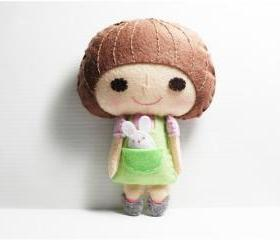 Heidy girl - - doll pattern, felt doll, PDF
