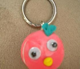 Key ring, rasberry cake