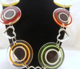 Retro 70's Lucite Necklace