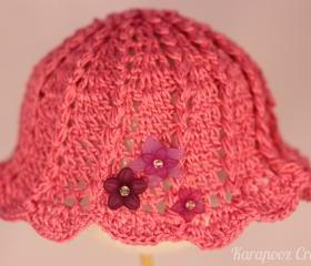 Crochet Baby Hat /3-6 months/handmade