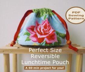 Reversible drawstring pouch - PDF Bag Sewing Pattern