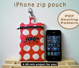 iPhone zip pouch - pdf bag sewing pattern