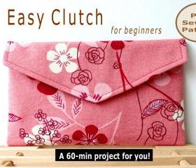 Easy Clutch - pdf sewing pattern