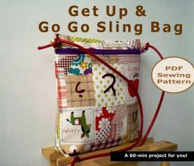 Get up and go go sling bag - pdf bag sewing pattern