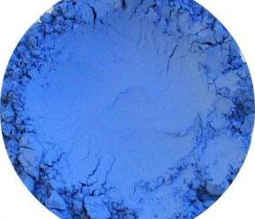 Mineral Matte Eye shadow, Blue, Glacier Ice color, Natural pure loose pigment cosmetics