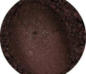 Mineral eyeshadow - Chocolate Brown color, dark brown eye shadow, semi matte eye shadow, smokey eye, vegan cosmetics