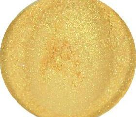 Gold Eyeshadow, mineral eye shadow, mineral powder makeup, loose powder eye shadow, all natural makeup, CIJ SALE