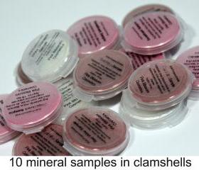 Mineral Eye shadow Samples - Pick 10 colors of your eyeshadow choice, beauty samples, make up samples, CIJ SALE