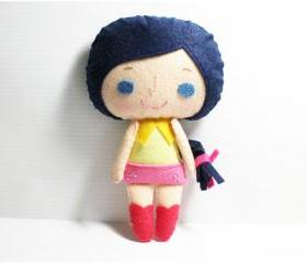 Connie girl - doll pattern, felt doll, PDF