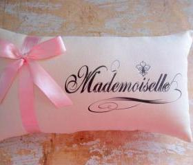 French Pillow, Mademoiselle, French Country Home, Cottage Decor